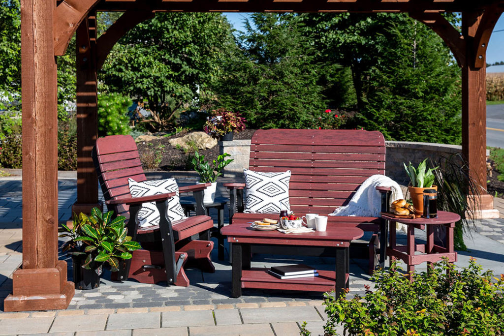 easy glider poly patio furniture