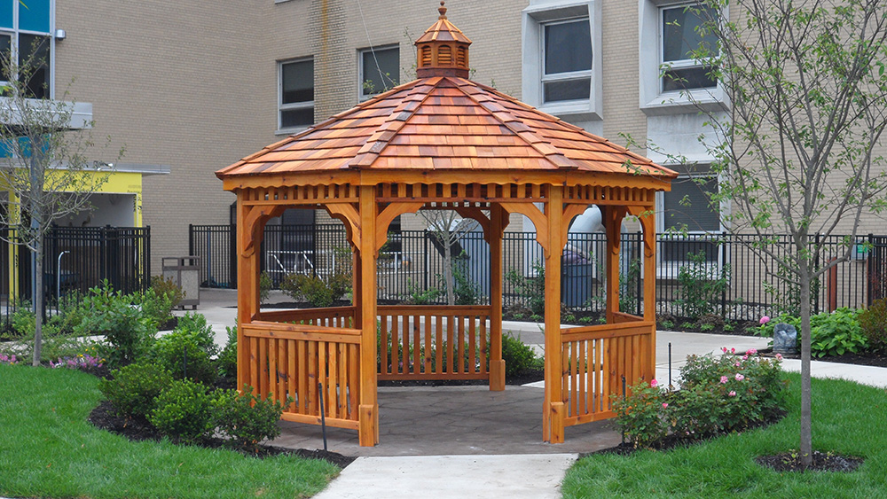 wood octagon gazebo