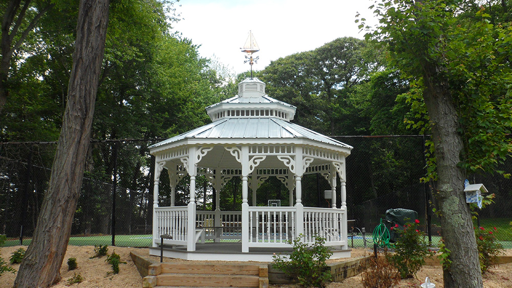 white octagon gazebo
