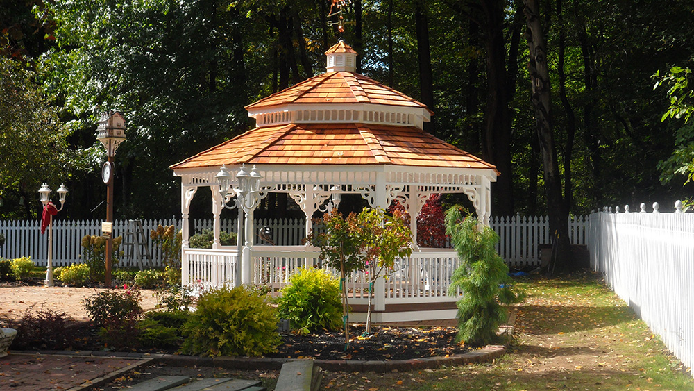 vinyl gazebo with pagoda roof style