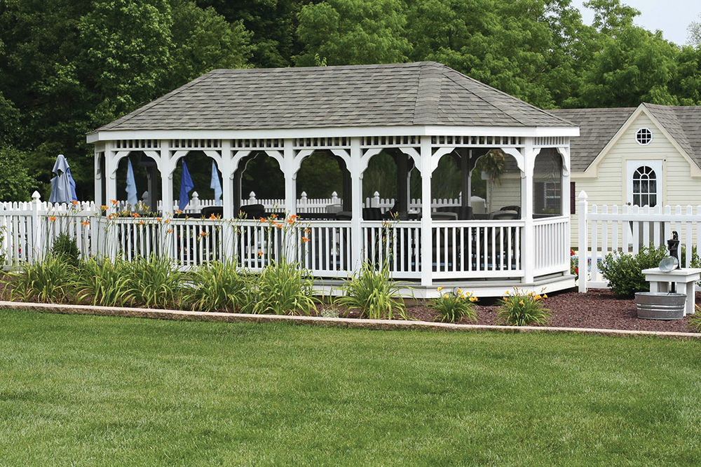 large oval gazebo