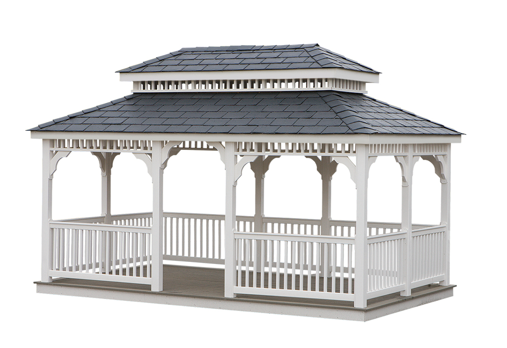 rectangle shaped gazebo