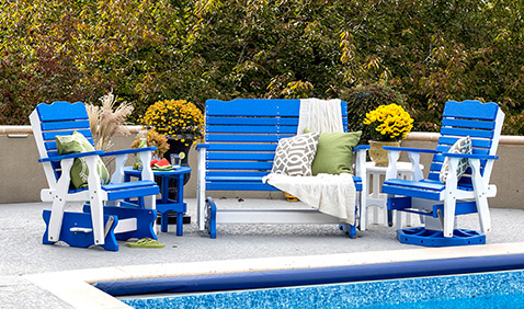 furniture outdoors by pool